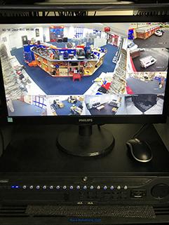 CCTV monitor on PC