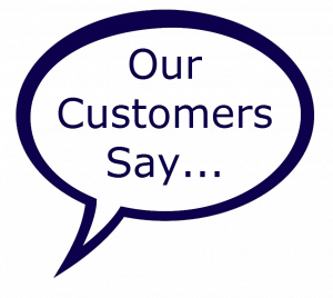 Our customers say