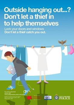 WYP spring burglary campaign - washing