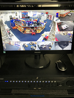 CCTV monitor on PC