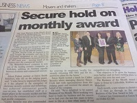 Calder Security featured in Huddersfield Examiner