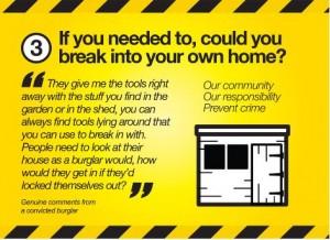 WYP anti burglary campaign poster 2