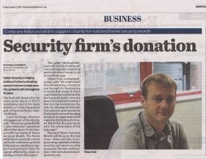 Calder Security raising money for Victim Support