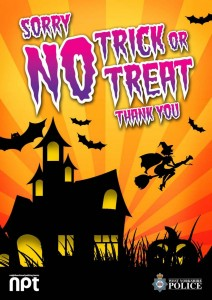No trick or treat poster West Yorkshire Police