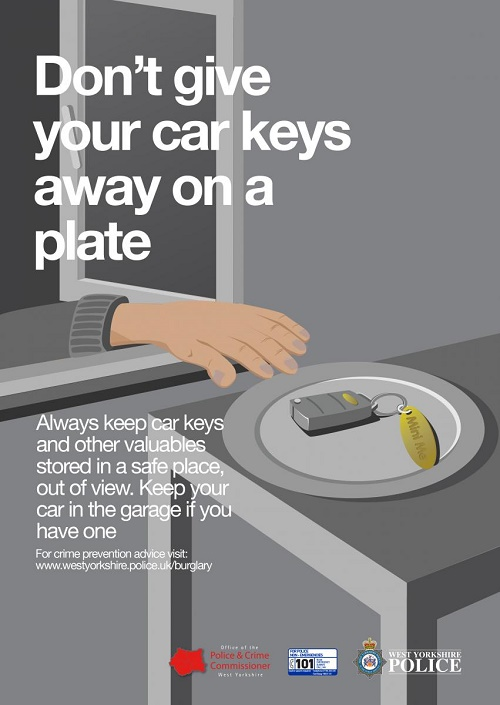 West Yorkshire Police anti-burglary campaign valuables