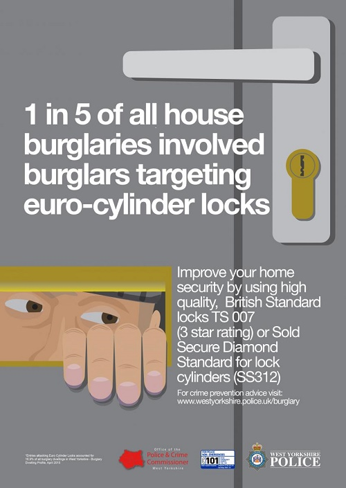 West Yorkshire Police anti-burglary campaign locks