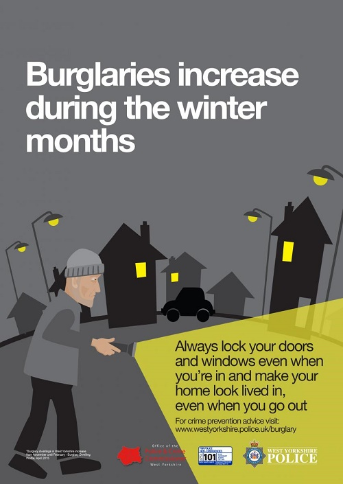 West Yorkshire Police winter anti-burglary campaign 2015
