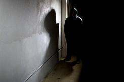 Burglar in dark