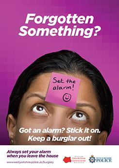 WYP autumn burglary campaign