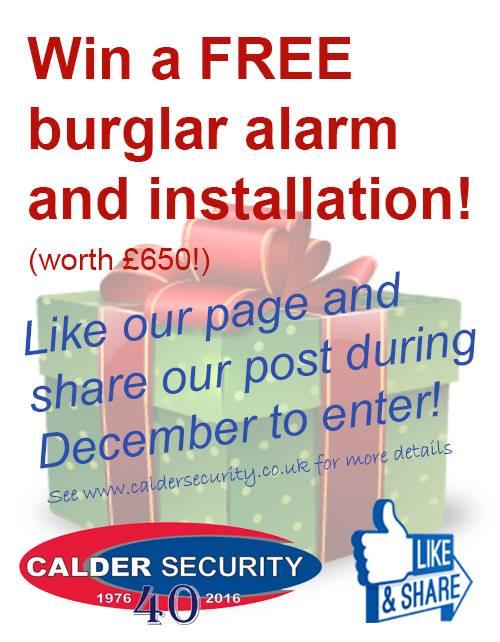 Free burglar alarm