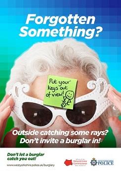WYP spring burglary campaign