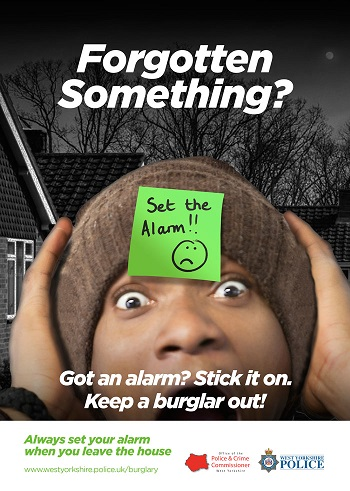 WYP anti-burglary winter campaign - alarm