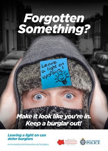 WYP winter burglary acampaign 2017 - light