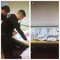 Essex Police wrapping presents