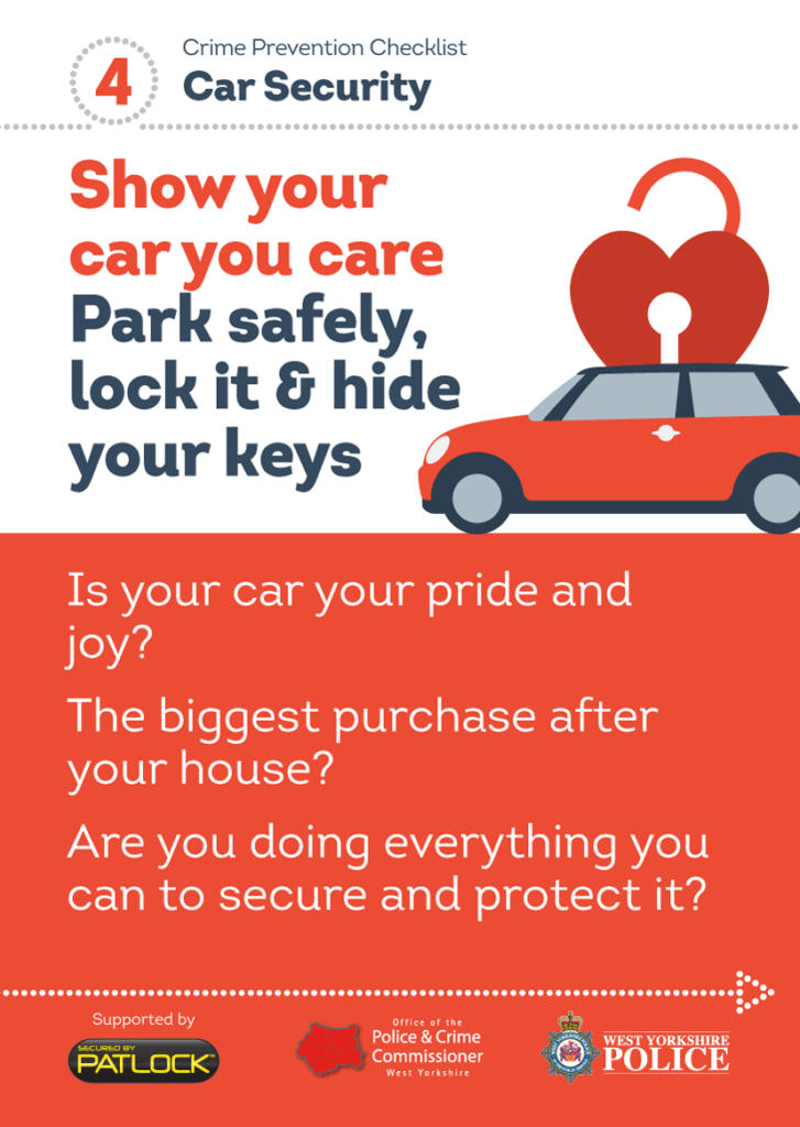 WYP spring burglary campaign - car security