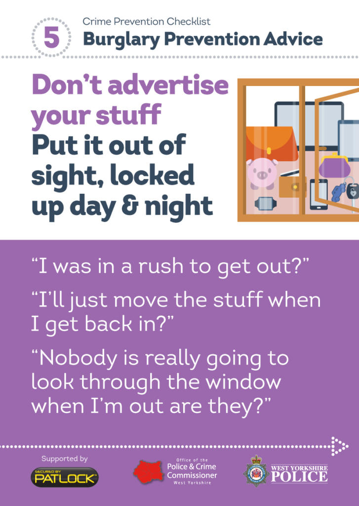 WYP spring burglary campaign - out of sight