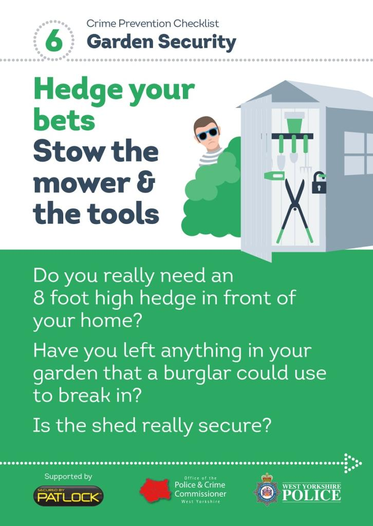 WYP spring burglary campaign - garden security